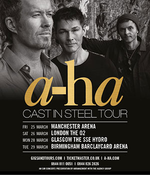 A-Ha 2016 UK Tour Poster