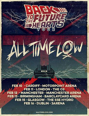 All Time Low Back To The Future Hearts Tour Poster