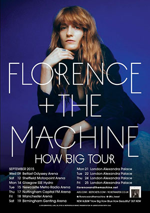 who is on tour with florence and the machine