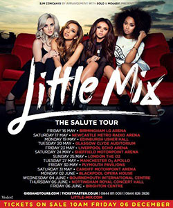 Little Mix - 2014 UK Tour Poster