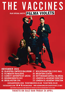 The Vaccines 2015 UK Tour Poster